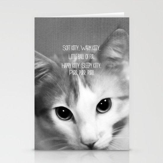 Soft Kitty Stationery Cards