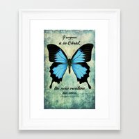 scripture Framed Art Prints featuring New Creation scripture print by Kristen Ramsey