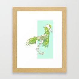 Skeleton Bird Framed Art Print