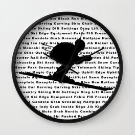 Circle Ski Symbol Wall Clock