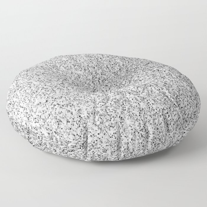 Beautiful Silver glitter sparkles Floor Pillow