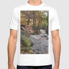 Autumnal woodland. Padley Gorge, Derbyshire, UK. Mens Fitted Tee White MEDIUM