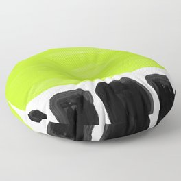 Kiwifruit lime green Floor Pillow