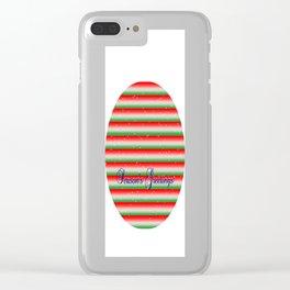 Season's Greetings Clear iPhone Case