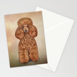 Drawing Toy poodle Stationery Cards