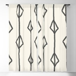 Hand-drawn diamond pattern Blackout Curtain