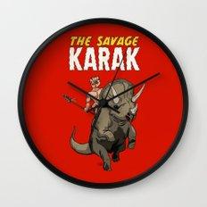 The Savage KARAK, King of Devil Jungle Island Wall Clock