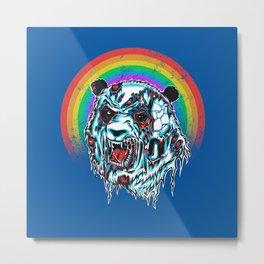 Zombie Panda Metal Print