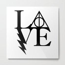HP love Metal Print