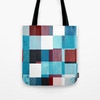 patriotic Tote Bags featuring Patriotic Grid by plaidGecko