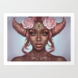 Taurus - The Star Sign Art Print