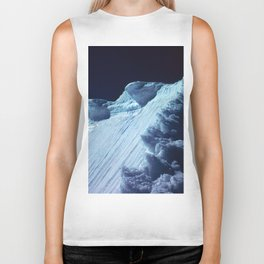 NATURE'S WONDER #2 - Glacier in the dark #art #society6 Biker Tank