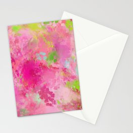 Pink neon green abstract look Stationery Cards
