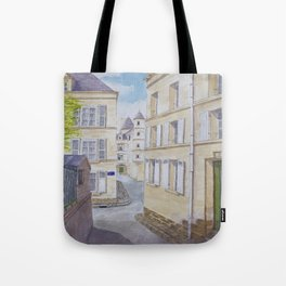 Narrow streets in Chinons old town (France) Tote Bag