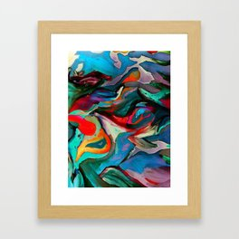 Blue See Bird Framed Art Print