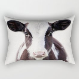 Baby Cow, Baby Animals Art Print By Synplus Rectangular Pillow