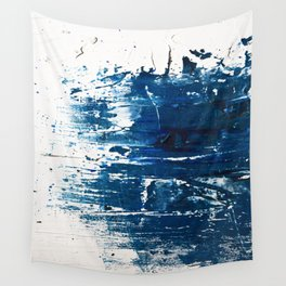 Tranquil: a minimal, abstract piece in blue by Alyssa Hamilton Art Wall Tapestry