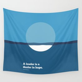Lab No. 4 - A leader is a dealer in hope Napoleon Bonaparte Leadership Inspirational Quotes Poster Wall Tapestry