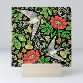 Dandelions and Swifts Mini Art Print