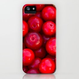 Lingonberry berry fresh forest fruits iPhone Case