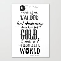 tolkien Canvas Prints featuring Tolkien quote by Pau Ricart