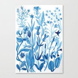 Blue Wildflowers Canvas Print