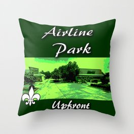 Airline park Throw Pillow