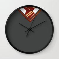 gryffindor Wall Clocks featuring Gryffindor Sweater by AnnouncingAmy