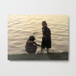 Childhood on the Lake Metal Print