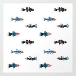 Swim With The Fishes Art Print