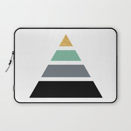 DIVIDED PYRAMID TRIANGLE WIT GOLDEN CAPSTONE Laptop Sleeve