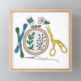 Embroidery | Embroidery Pattern | Embroidery Supplies Framed Mini Art Print