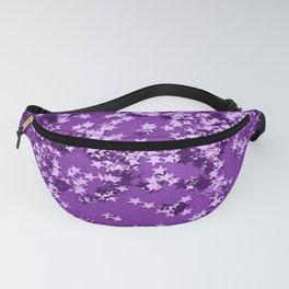 Purple Glitter Stars #1 #shiny #decor #art #society6 Fanny Pack