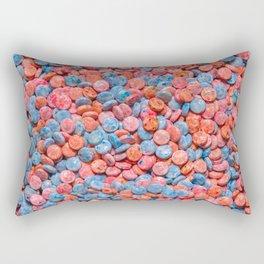Assorted Bubblegum Chews. Real Candy Pattern Rectangular Pillow
