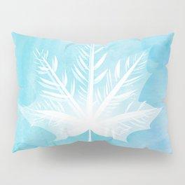 Fall Watercolor - Teal Leaf Pillow Sham