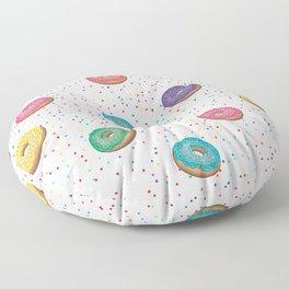 Colorful mini donut pattern Floor Pillow