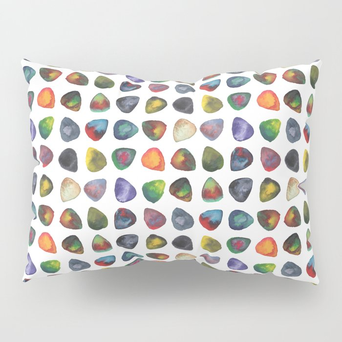 Guitar Picks Watercolor Pillow Sham