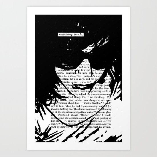Unnecessary Trouble Art Print