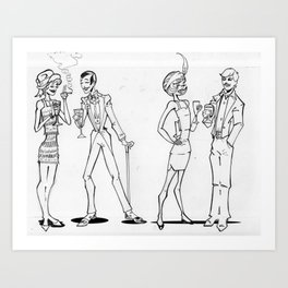 The Wine Party. Art Print