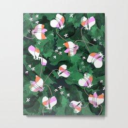 Cyclamen Spring Flowers Print Metal Print
