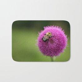 Bumble Bee on Purple Thistle Bath Mat