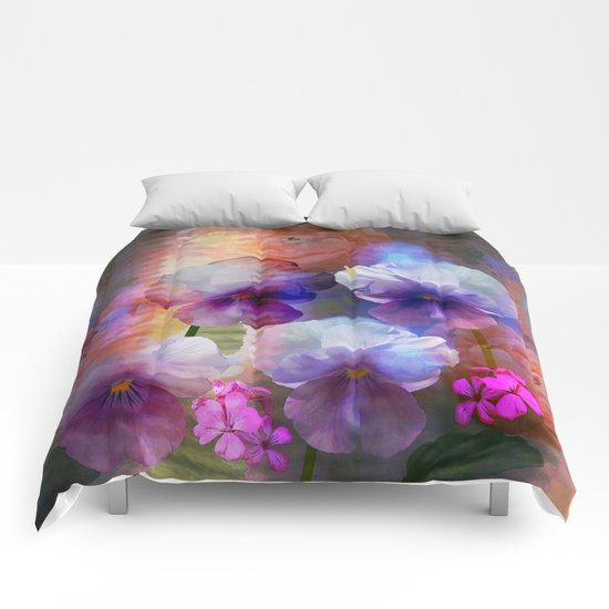 Paint me a garden Comforters