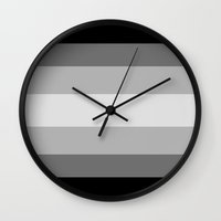 solid Wall Clocks featuring Solid by Samantha Ann