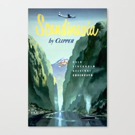 Vintage Scandinavia by Clipper Canvas Print