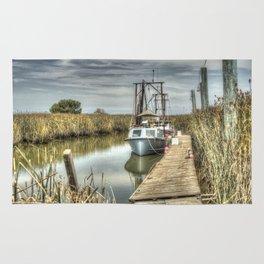 Boat in Marsh 3 Rug