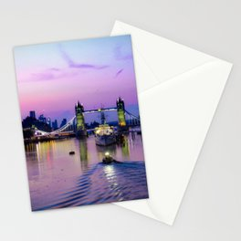Early morning at Tower Bridge Stationery Cards