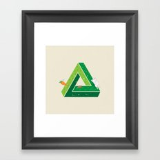 Chasing Framed Art Print