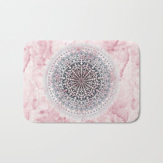 ICELAND MANDALA IN PINK Bath Mat