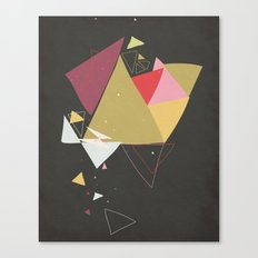 Exploding Triangles//Four Canvas Print