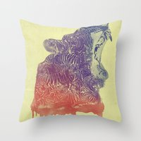 camo Throw Pillows featuring camo  by samalope